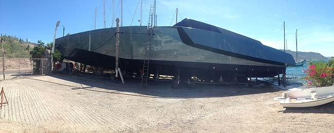 Superyacht Shore Boat serviced at Bercovitch boat Works